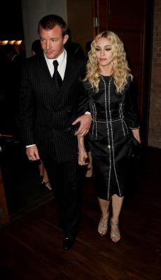 Guy Ritchie and Madonna, Sept. 2008 -- Getty Images