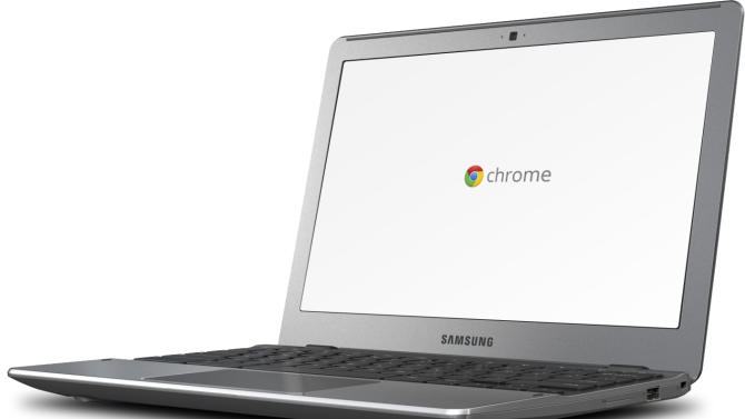 This product image provided by Google shows the newly released Chromebook laptop computer from Samsung. The Tuesday, May 29, 2012 release of the next-generation Chromebooks will give Google and Samsung another opportunity to persuade consumers and businesses to buy an unconventional computer instead of machines running on familiar software by industry pioneers Microsoft Corp. and Apple Inc. (AP Photo/Google)