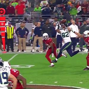 Seattle Seahawks tight end Luke Willson 39-yard reception