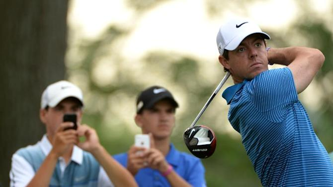 Rory McIlroy of Northern Ireland in action during the pro am event prior to The Barclays at the Ridgewood Country Club on August 20, 2014 in Paramus, New Jersey