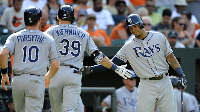 Rays hit 3 homers, beat Chen and Orioles 5-4