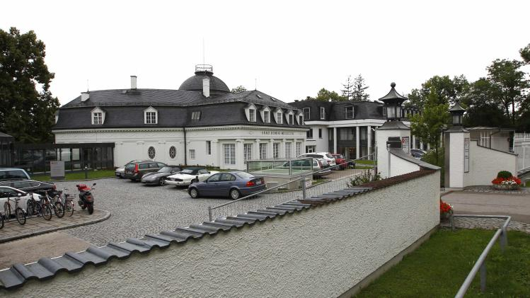 General view shows 'Schoen - Klinik' hospital in Berg