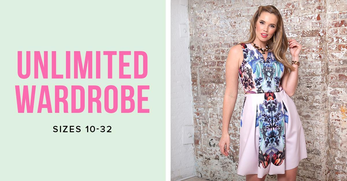 Free 30 Day Trial: Unlimited Wardrobe Sizes 10-32