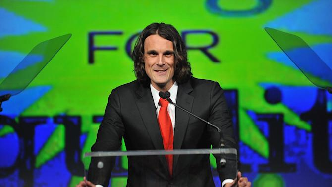 NFL player Chris Kluwe speaks onstage at the fifth annual PFLAG National Straight for Equality Awards, at Marriott Marquis Hotel in New York, on April 4, 2013
