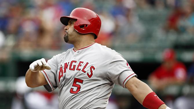 Pujols, Kendrick homer in Angels' win over Rangers