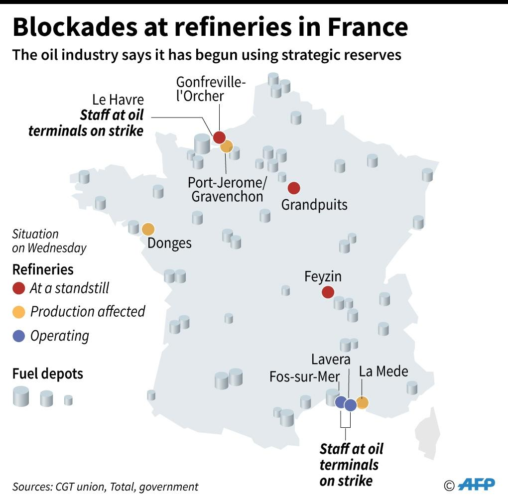France faces fresh strikes as nuclear workers join protest