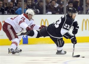 LA Kings beat Phoenix, move to brink of Cup final