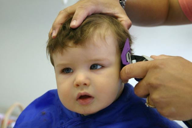 3. Shave hair of baby to make it grow faster