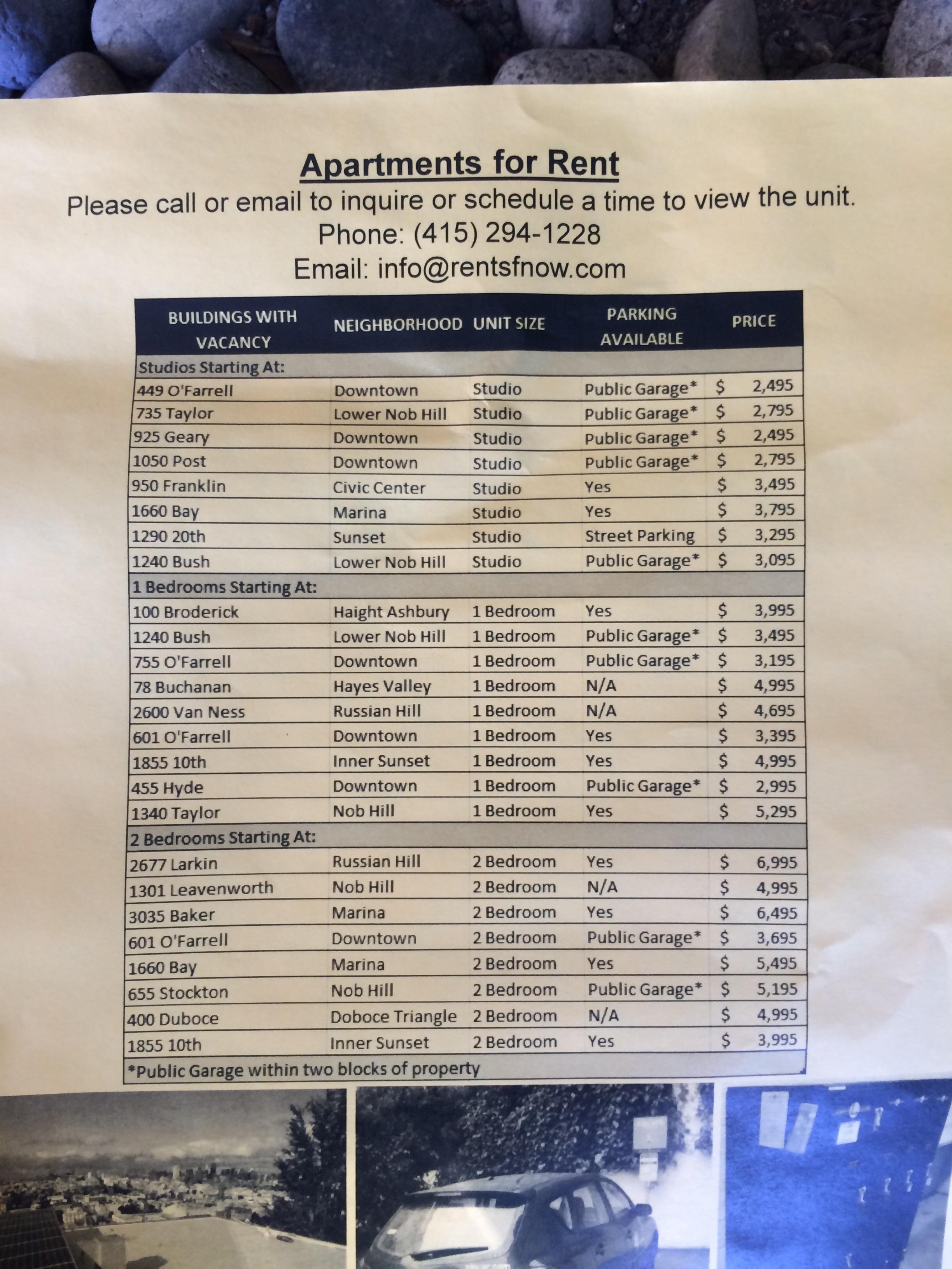 If you're moving to San Francisco, this housing flyer will make you want to cry