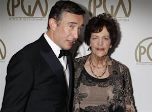"Actor Steve Coogan from the film ""Philomena"", arrives with Philomena Lee at the 25th Annual Producers Guild of America Awards in Beverly Hills"