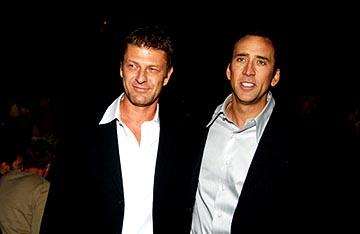 Sean Bean and Nicolas Cage at the LA premiere of Touchstone's National Treasure