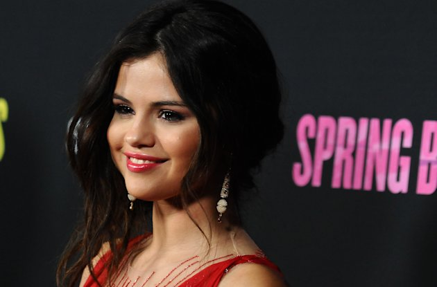"Selena Gomez arrives at the LA premiere of ""Spring Breakers"" at the ArcLight Hollywood on Thursday, March 14, 2013 in Los Angeles. (Photo by Jordan Strauss/Invision/AP)"
