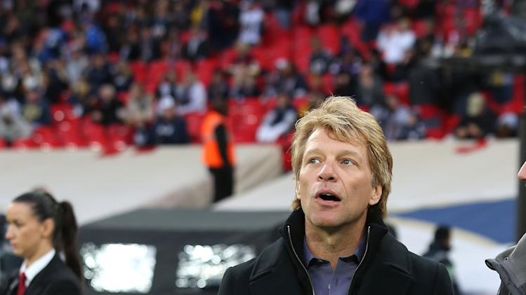 Jon Bon Jovi Attends St Louis Rams Vs New England Patriots At Wembley Stadium