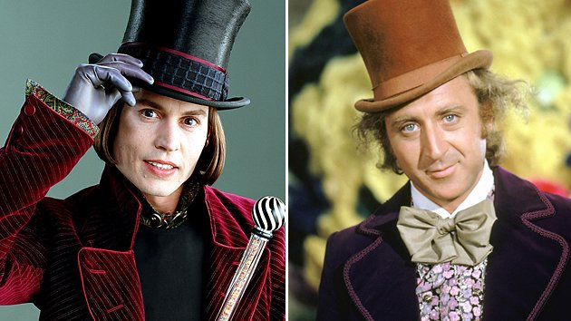 Johnny Depp and Gene Wilder, Willy Wonka