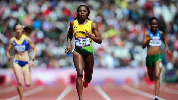 Novlene Williams-Mills of Jamaica competes in the Women's 400m Heats on Day 7 of the London 2012 Olympic Games at Olympic Stadium on August 3, 2012 in London, England. (Photo by Stu Forster/Getty Images)