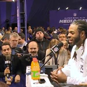 Super Bowl media day full of dancing, deflecting