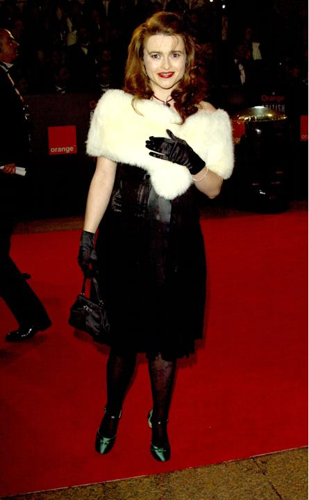 Helena in a white fur stole