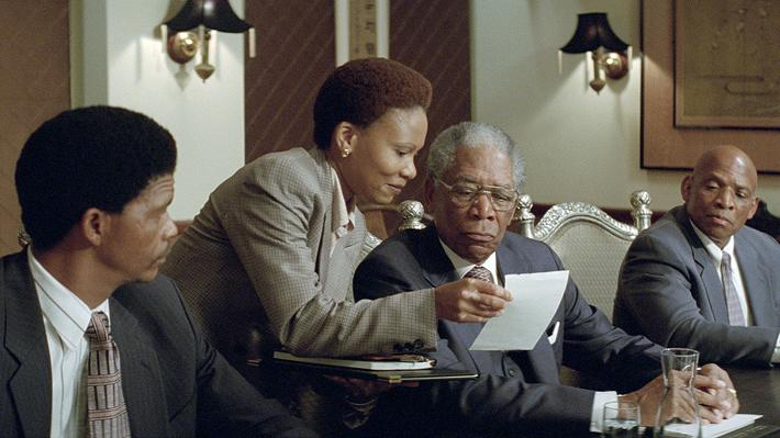 Invictus Production Photos 2009 Warner Bros. Leleti Khumalo Morgan Freeman
