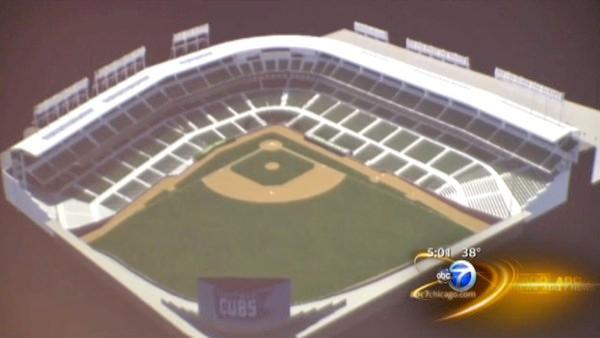 Cubs unveil 5-year fix-up plan for Wrigley Field