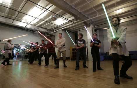 Fitness geeks get to grip with the lightsaber classes
