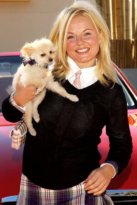 Geri Halliwell and dog Daddy