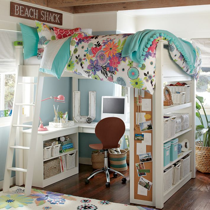 Teen Girl Room Ideas with Loft Beds 710 x 710