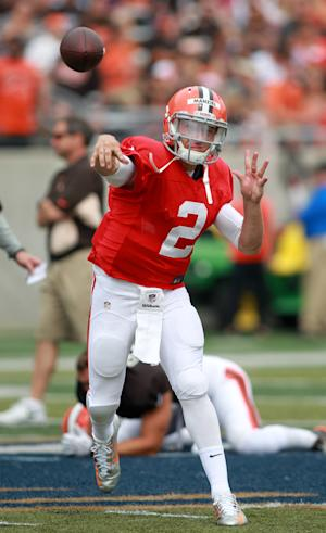 Manziel back on campus for Browns scrimmage
