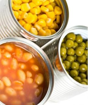 Canned Vegetables lined with Bisphenol-A (BPA)