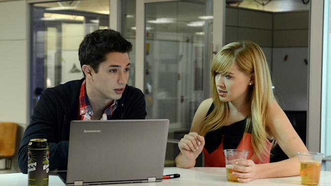 "This undated image provided by Amazon shows actors Joe Dinicol, left, and Sarah Stouffer act out a scene from an episode of ""Betas,"" one of 14 TV show pilots being made by Amazon.com Inc. Amazon is hoping people will sign up to pay $79 a year for an Amazon Prime membership, a free shipping, online video and e-book borrowing service that will include access to the full series on the Web, connected TVs and mobile devices when they're completed. (AP Photo/Amazon)"