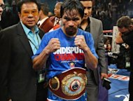 Manny Pacquiao after winning his WBO welterweight title fight in November 2011. On Saturday, Timothy Bradley will be fighting for just the second time at 147 pounds, moving up to challenge for Pacquiao&#39;s welterweight belt