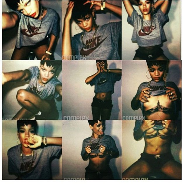 Celebrity Twitpics: Another week, another Twitpic of Rihanna showing off her boobs. This week she tweeted these images from a magazine shoot alongside the caption: Im narcissistic  but whatever, ev