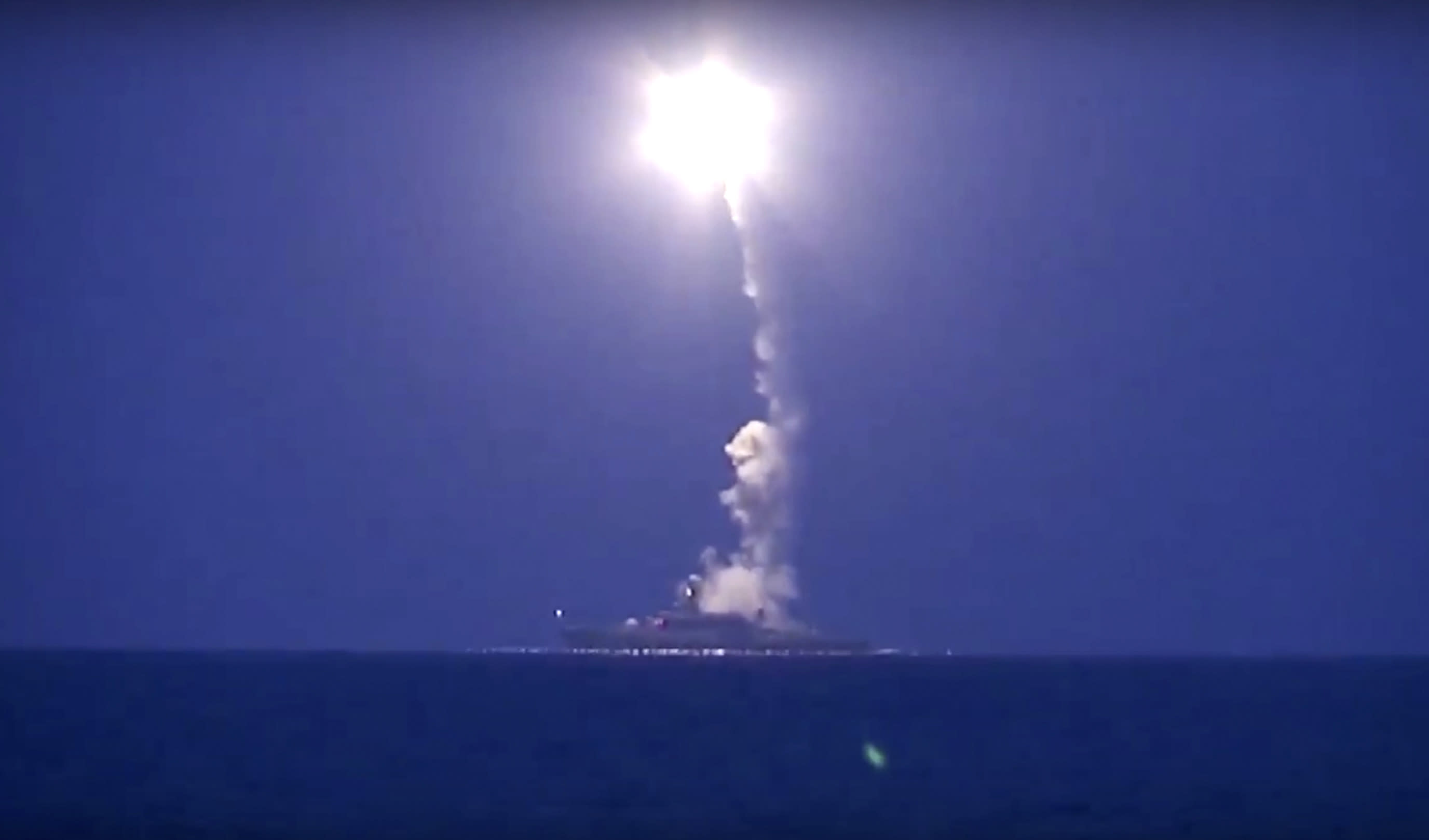 Russia fires cruise missiles from warships into Syria