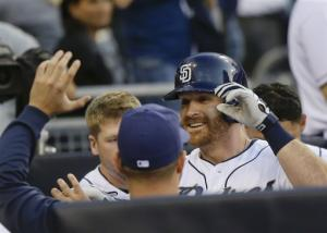 Forsythe, Venable homer to lead Padres over Braves