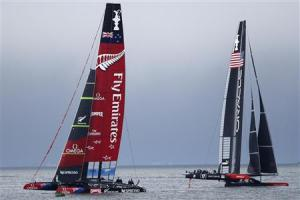 America's Cup race thirteen in San Francisco