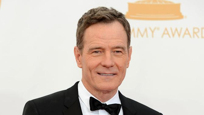 """FILE - This Sept. 22, 2013 file photo shows Bryan Cranston at the 65th Primetime Emmy Awards at Nokia Theatre in Los Angeles. Cranston will portray President Lyndon B. Johnson in his Broadway debut in """"All the Way."""" He plays Johnson during his first year in office following the assassination of John F. Kennedy and explores both his fight for re-election and the passage of the Civil Rights Act of 1964. (Photo by Jordan Strauss/Invision/AP, File)"""