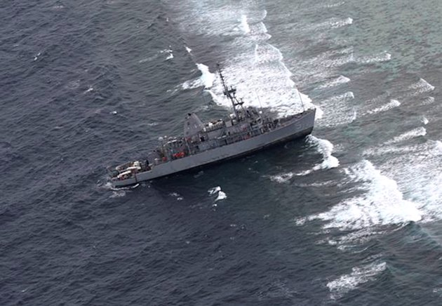 US Navy Ship USS Guardian Stuck In Philippines Used Faulty Map - Us navy ship map