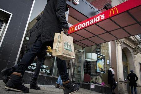 McDonald's Golden Arches are seen at the Union Square location in New York