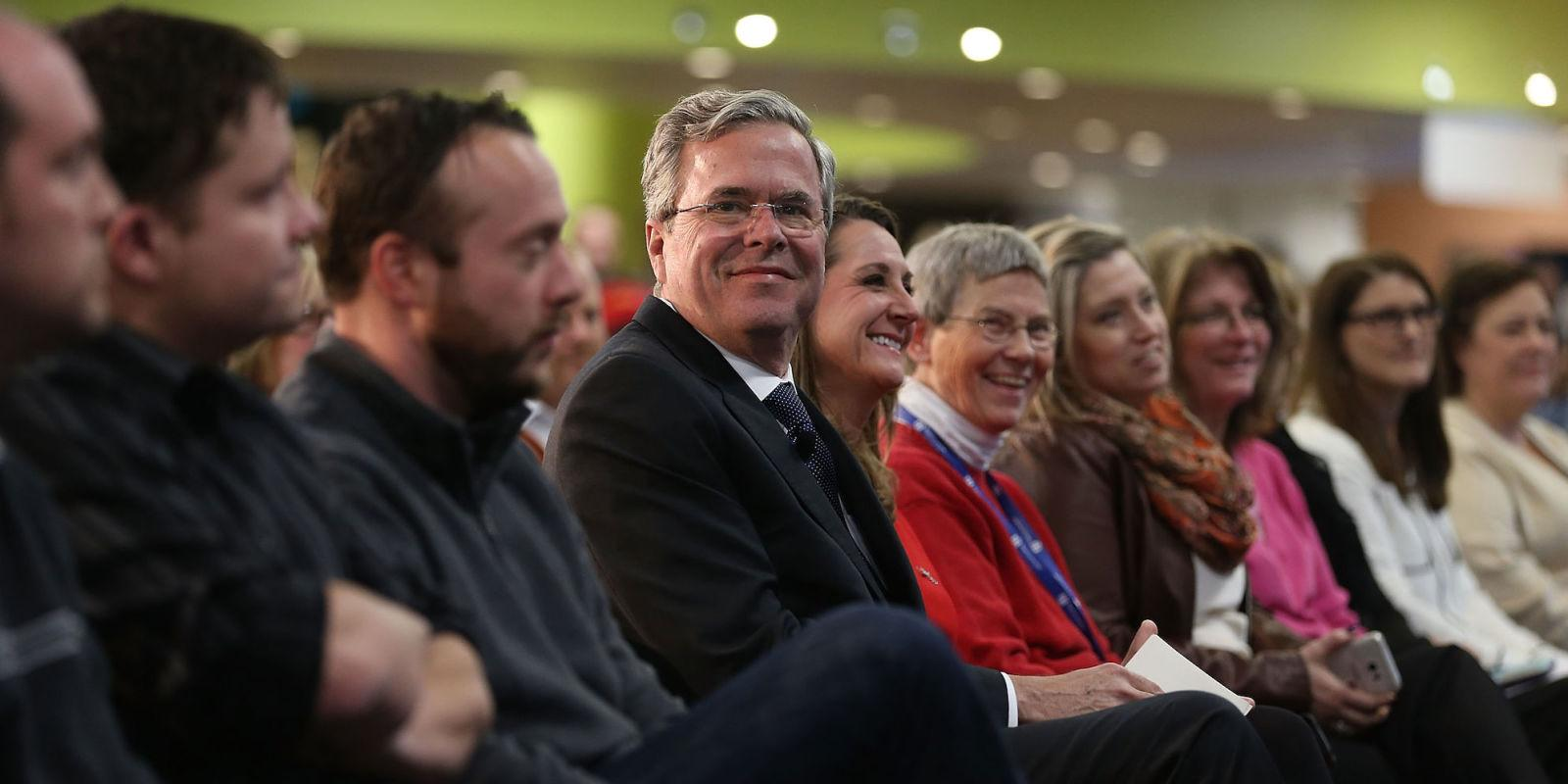 Here's Jeb (!)'s Problem: He Showed Up to a Food Fight in a Tuxedo