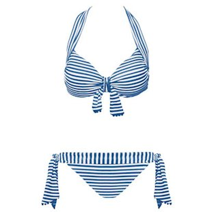 Pin Up Denim Halter Bikini Seafolly