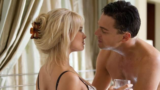 Leonardo DiCaprio and Margot Robbie in 'The Wolf of Wall Street' -- Paramount