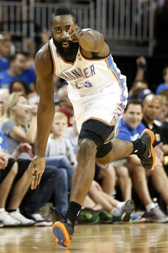 Durant, Harden lead Thunder over Mavs 88-66
