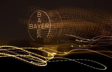 File photo of the logo of Germany's largest drugmaker Bayer in Leverkusen