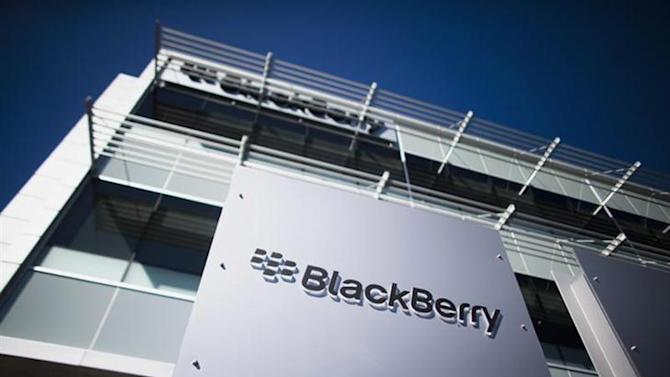 The company logo is seen at the Blackberry campus in Waterloo, September 23, 2013. REUTERS/Mark Blinch/Files