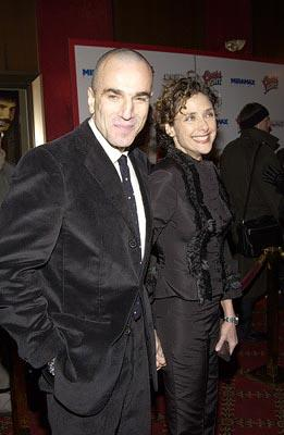 Daniel Day-Lewis and Rebecca Miller at the New York premiere of Miramax's Gangs of New York