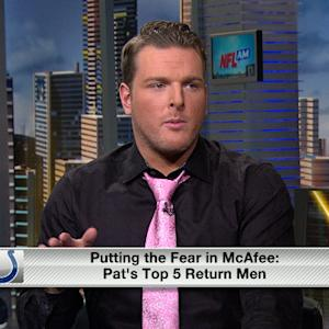 Indianapolis Colts punter Pat McAfee's top 5 return men