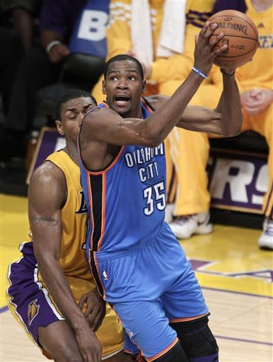 Kobe leads Lakers past Thunder in 99-96 thriller