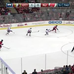 Craig Anderson Save on Patrik Elias (12:20/1st)