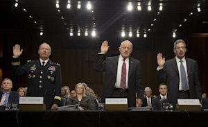 From left, National Security Agency Director General …