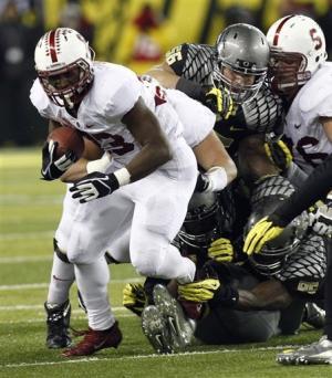 No. 14 Stanford upsets No. 1 Oregon 17-14 in OT