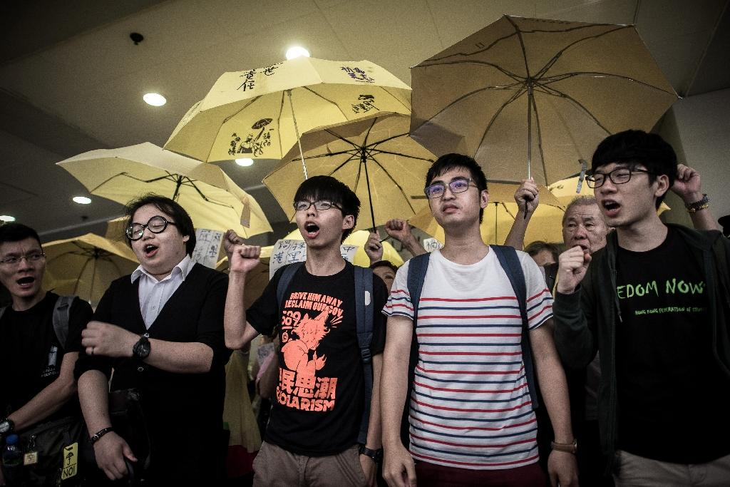 Hong Kong activists plead not guilty over democracy protest